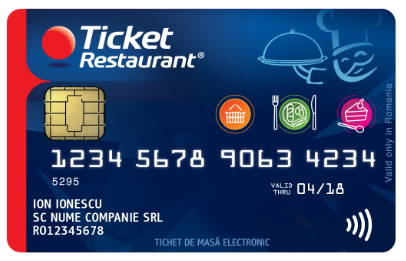Card Ticket Restaurant Romania