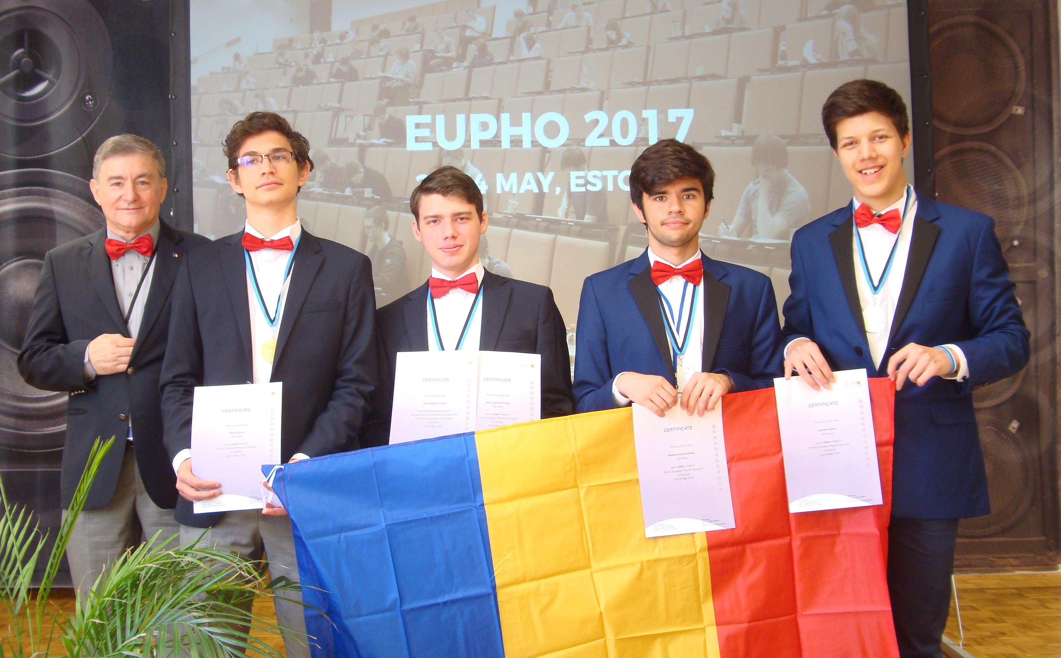 O medalie de aur și trei de argint pentru România la Oli mpiada Europeană de Fizică